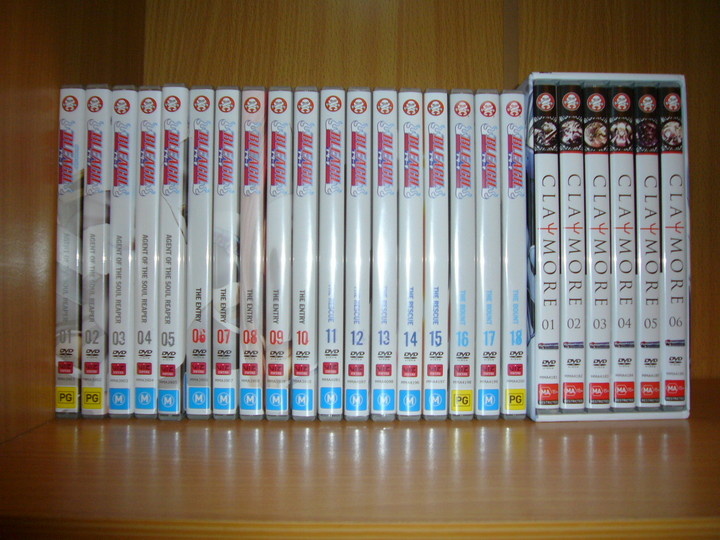 Bleach V1-18 and Claymore Boxset.